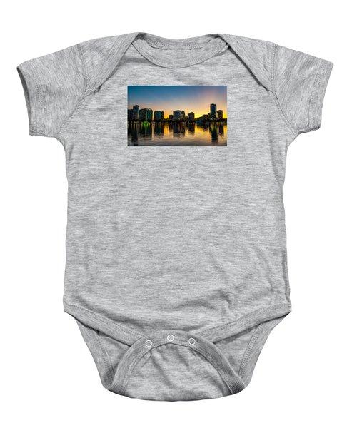 Lake Eola Sunset Baby Onesie
