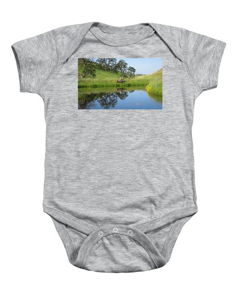 Lake Front Property Baby Onesie