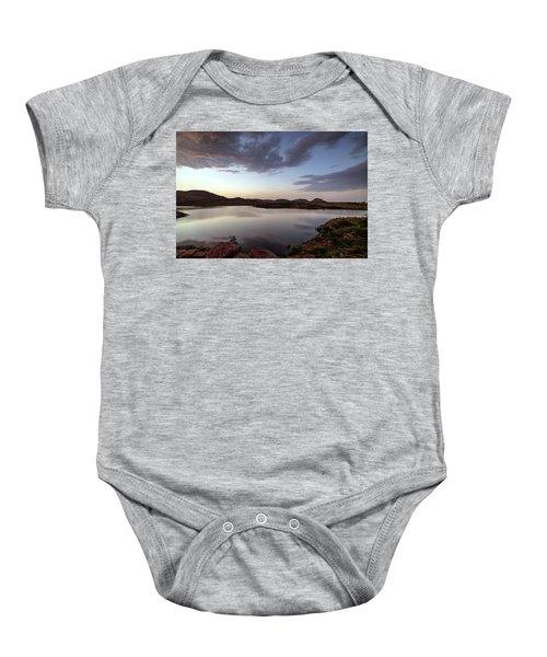 Lake In The Wichita Mountains  Baby Onesie
