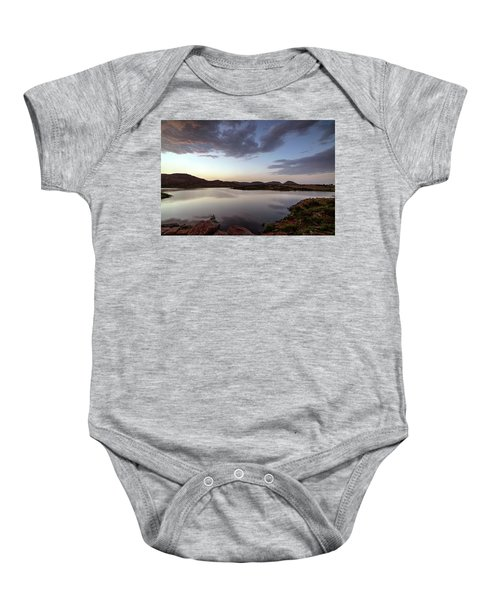 Lake In The Wichita Mountains  Baby Onesie