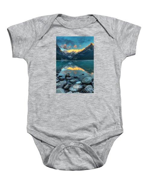 Lake Louise Sunrise Baby Onesie
