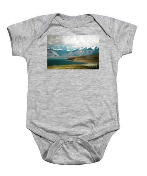 Lake Manasarovar Kailas Yantra.lv Tibet Baby Onesie