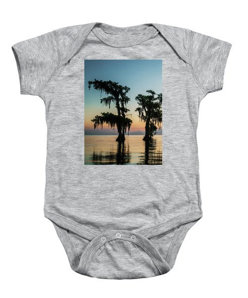 Lake Maurepas Sunrise Triptych No 3 Baby Onesie