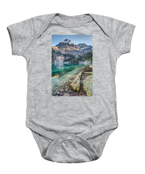 Lake O'hara Scenic Shoreline Baby Onesie