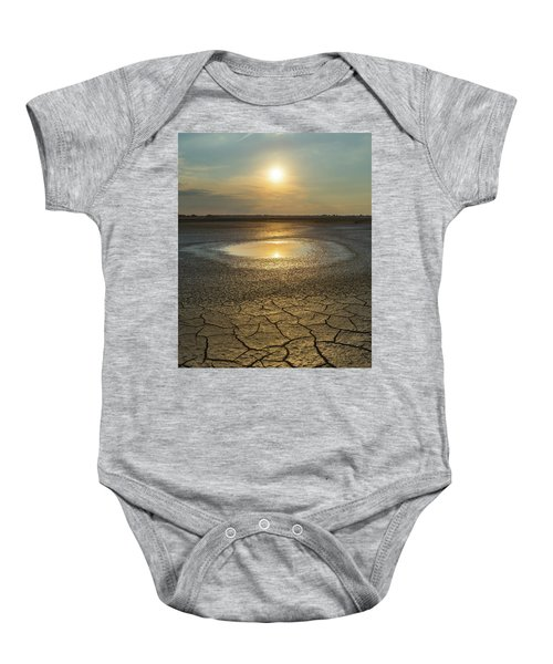 Lake On Fire Baby Onesie