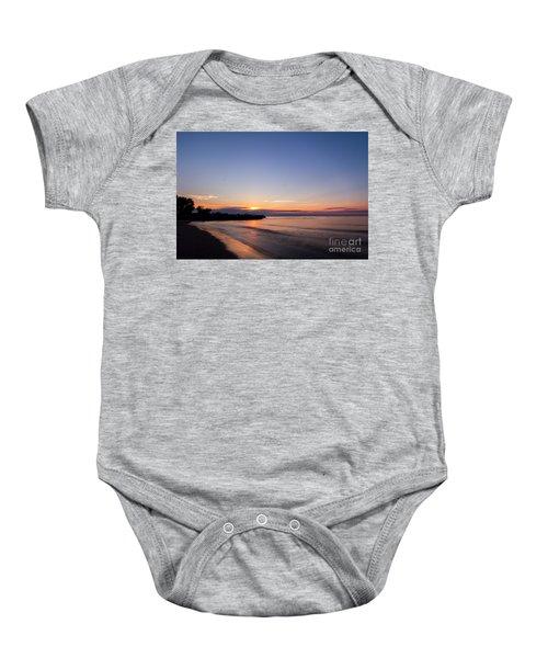 Lake Ontario Beach Sunset Baby Onesie