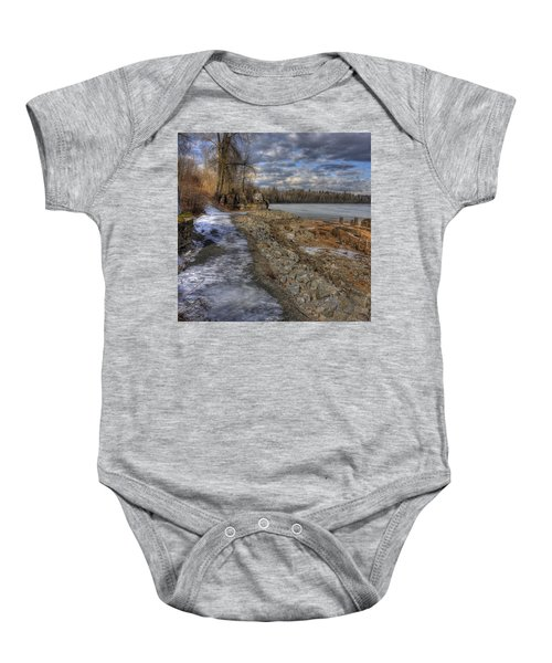 Lake Pend D'oreille At Humbird Ruins Baby Onesie