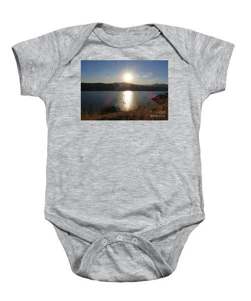 Lake Roosevelt Sun Baby Onesie