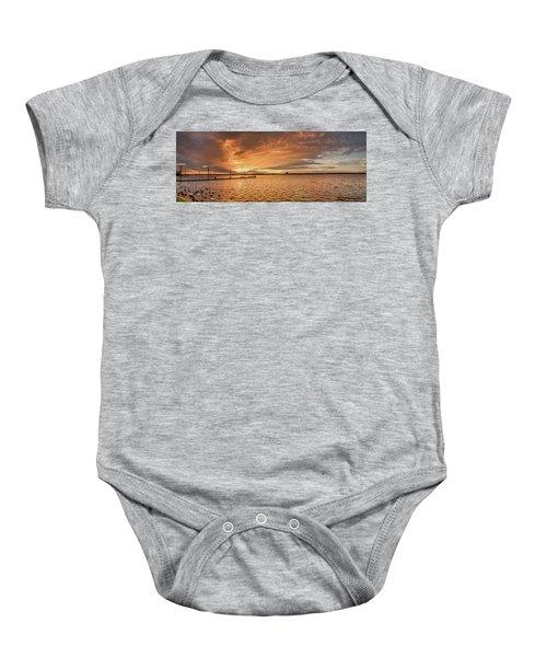 Lake Sunset Baby Onesie