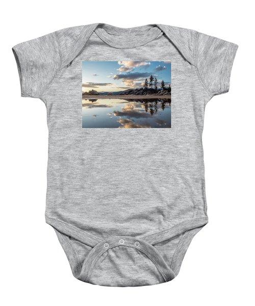 Lake Tahoe Mirror Baby Onesie