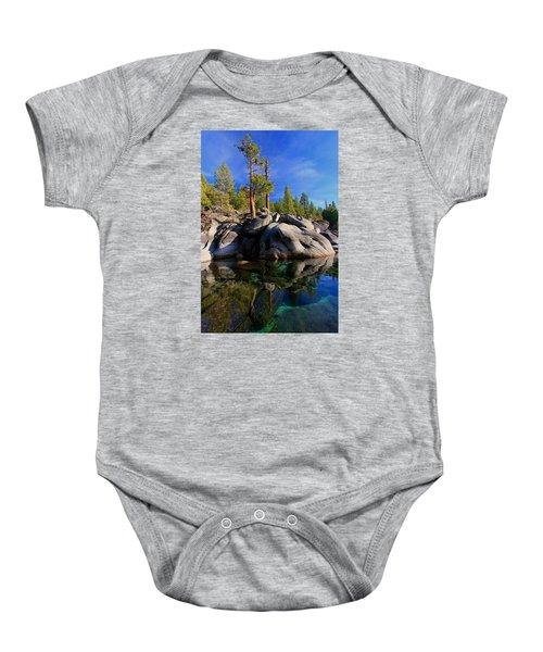 Lake Tahoe Rocks Baby Onesie