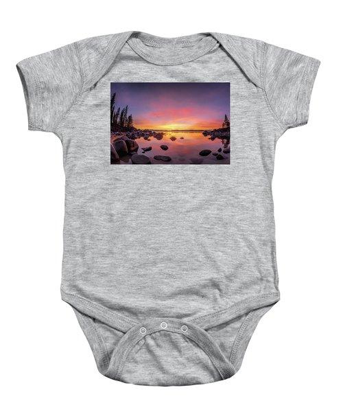 Lake Tahoe Sunset Peace Baby Onesie