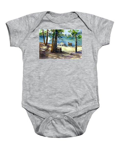 Lake Valley Bear Baby Onesie