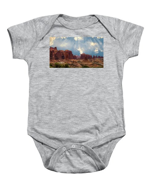 Land Of The Giants Baby Onesie