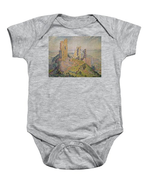 Landscape With A Ruined Castle  Baby Onesie