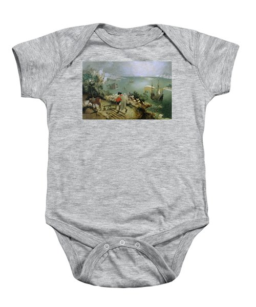 Landscape With The Fall Of Icarus Baby Onesie