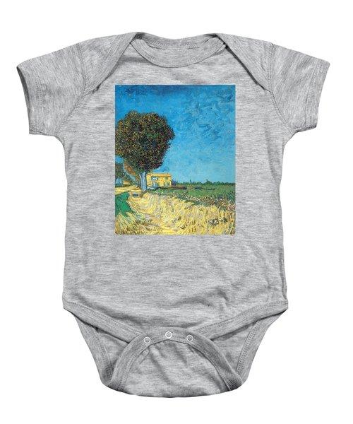 Baby Onesie featuring the painting Lane Near Arles by Van Gogh