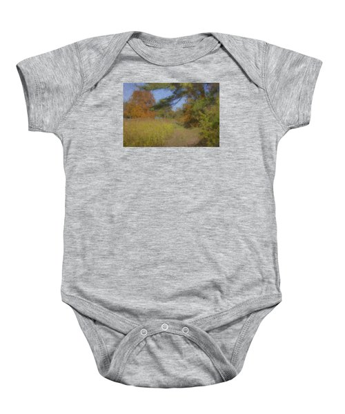 Langwater Farm Tractor Path Baby Onesie