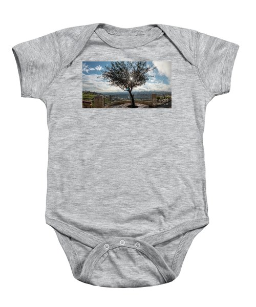Large Tree Overlooking The City Of Jerusalem Baby Onesie