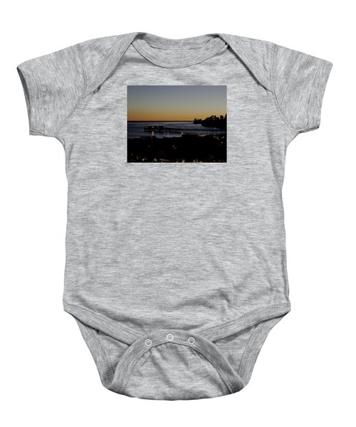 Baby Onesie featuring the photograph Last 2015 Sunset by Lora Lee Chapman