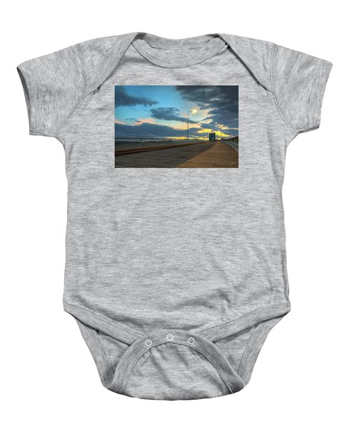 Last Light And Color Over Walnut Baby Onesie