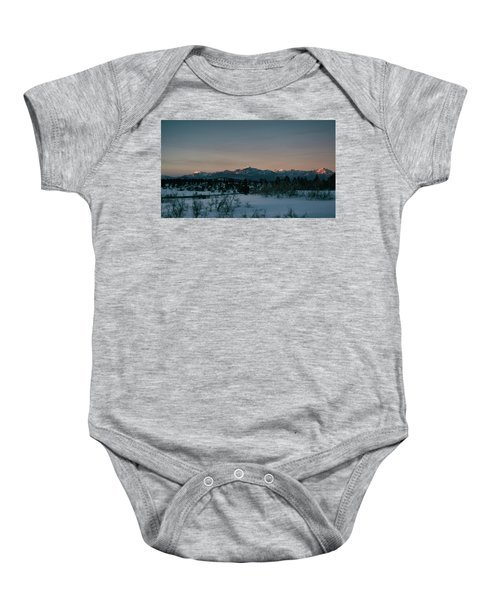 Last Light On Pagosa Peak Baby Onesie