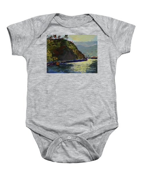 Late Afternoon At The Bay Baby Onesie