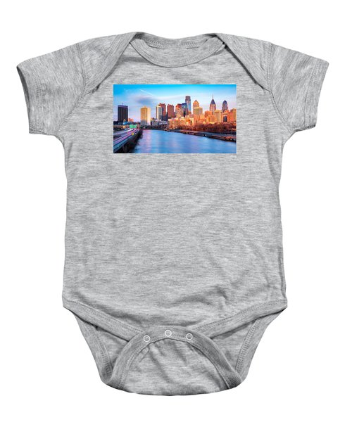 Late Afternoon In Philadelphia Baby Onesie