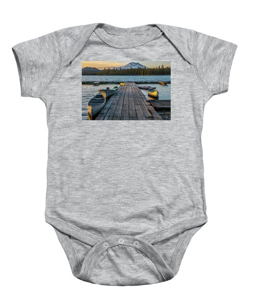 Lava Lake Evening  Baby Onesie