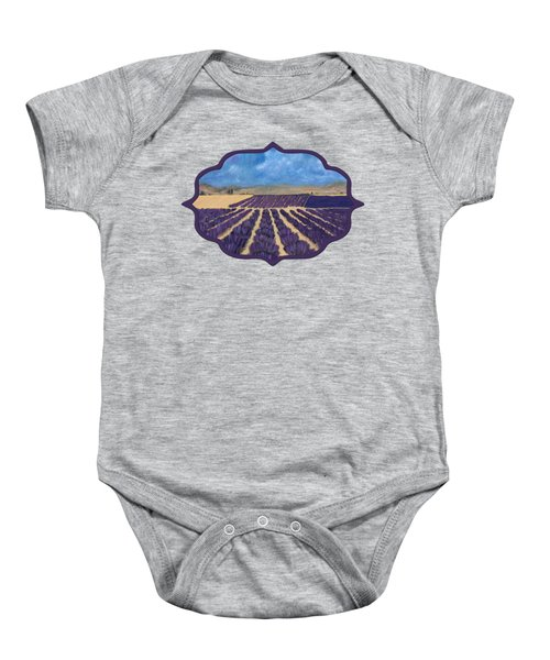 Baby Onesie featuring the painting Lavender Field by Anastasiya Malakhova