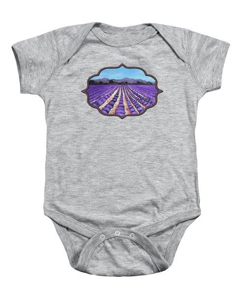 Lavender Field In Provence Baby Onesie by Anastasiya Malakhova