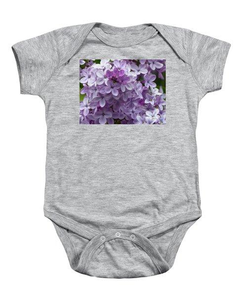 Lavender Lilacs Baby Onesie