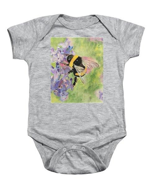 Lavender Visitor Baby Onesie