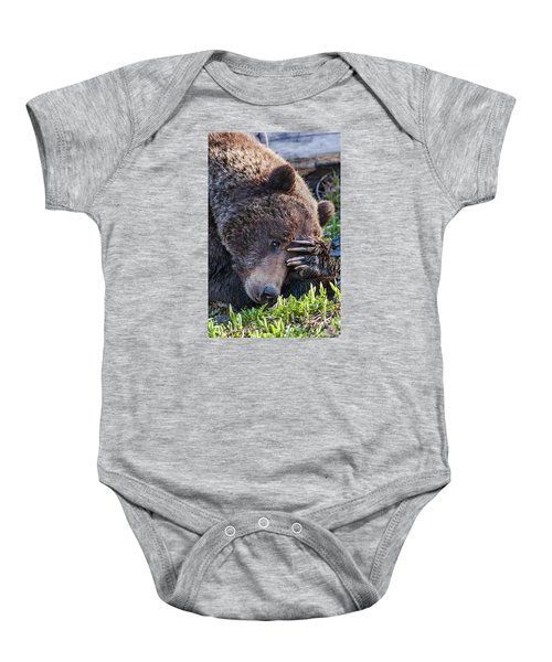 Lazy Bear Baby Onesie