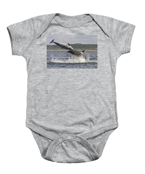 Leaping Bottlenose Dolphins - Scotland  #38 Baby Onesie