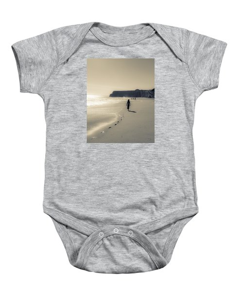 Leave Nothing But Footprints Baby Onesie by Alex Lapidus