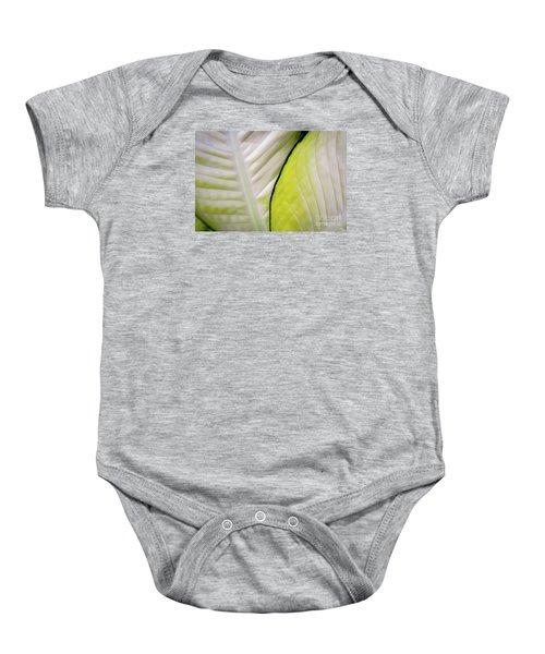 Leaves In White Baby Onesie