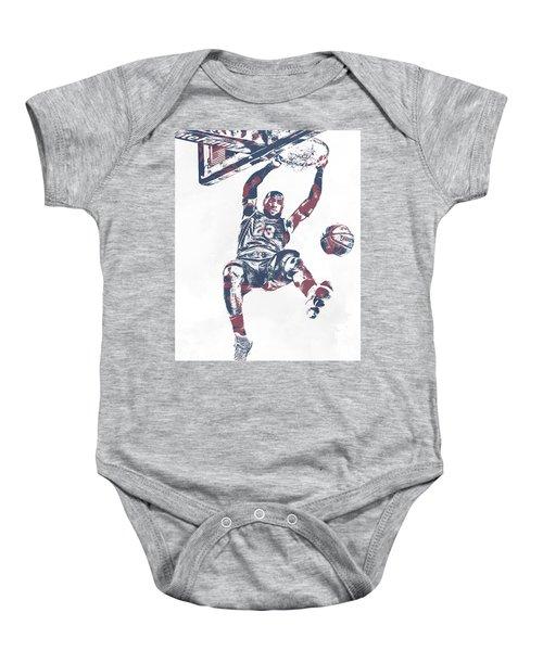 655b245d771b Lebron James Cleveland Cavaliers Pixel Art 64 Baby Onesie