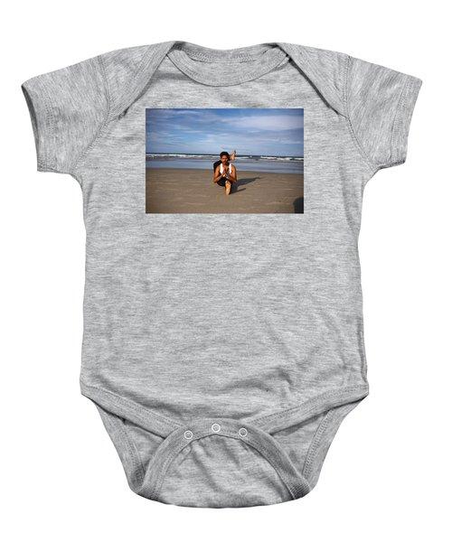 Leg To Neck Pose Baby Onesie