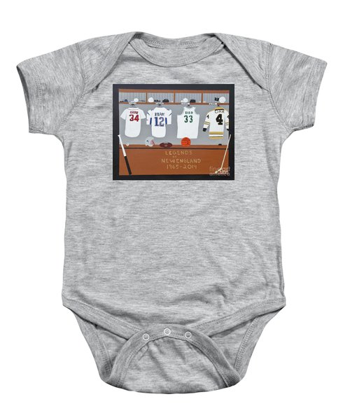 Legends Of New England Baby Onesie by Dennis ONeil