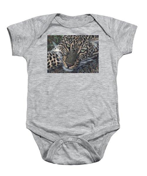 Leopard Portrait Baby Onesie