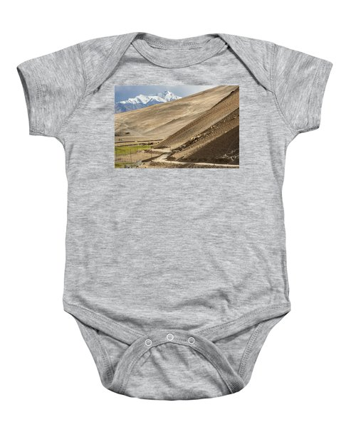 Less Traveled Baby Onesie by Hitendra SINKAR