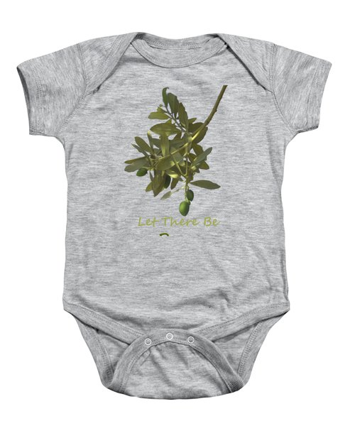 Let There Be Peace Olive Branch And Text  Baby Onesie