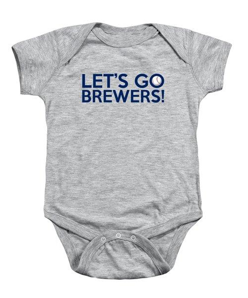 Let's Go Brewers Baby Onesie by Florian Rodarte