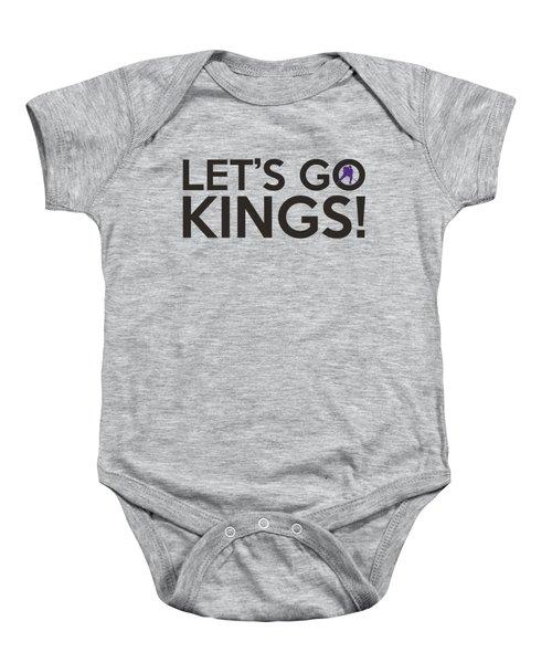 Let's Go Kings Baby Onesie by Florian Rodarte