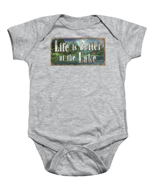 Life Is Better Sign Baby Onesie