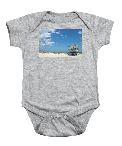 Lifeguard Station Miami Beach Florida Baby Onesie