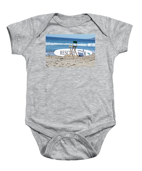 Lifeguard Surfboard Rescue Station  Baby Onesie
