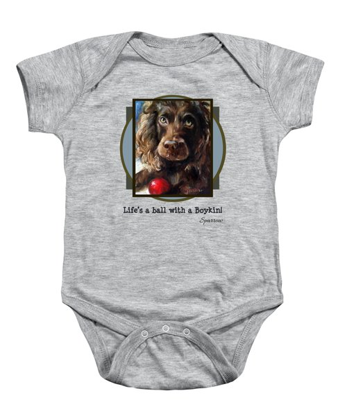 Life's A Ball With A Boykin Baby Onesie