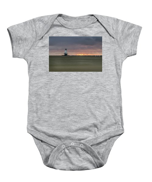Lighthouse And Sunset Baby Onesie